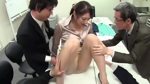 Asian blowjob in office