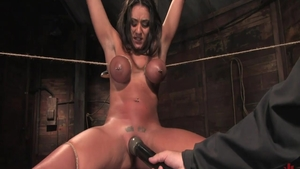 Tied up in company with large tits babe Charley Chase