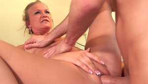 Plowing hard together with Katie Gold & Katie Morgan