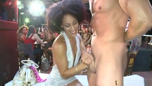 Raw fucking in company with small tits MILF