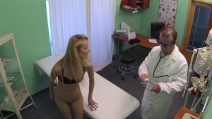 Hard sex accompanied by skinny doctor