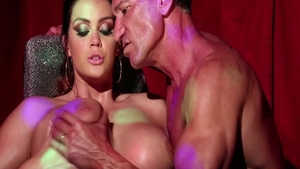 Busty & tall BBW Alison Tyler fetish facial