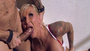 Nailed rough with big ass blonde Jarushka Ross