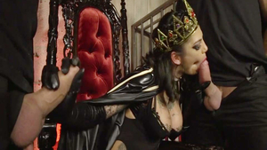 Rough gangbang accompanied by Bonnie Rotten
