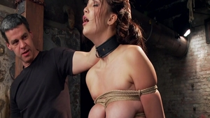 Very hot pornstar Holly Michaels agrees to bondage