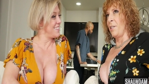Busty Dee Williams and Sara Jay fucked in the ass
