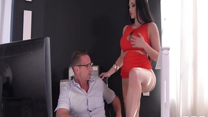 Aletta Ocean amongst David Perry seduced