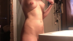 Puffy nipples blonde ramming hard in the shower HD