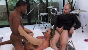 Cali Carter in sexy lingerie interracial banging in HD