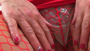 British mature gets a buzz out of real fucking in fishnets HD