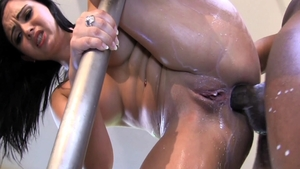 Angell Summers anal interracial scene