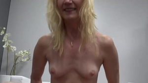 Small boobs granny receives hard pounding in HD