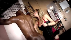 Hard slamming in company with erotic blonde hair Katie Kox