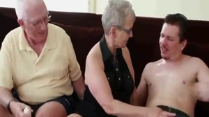 Young granny homemade threesome deepthroat in HD