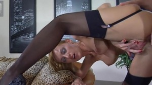 Fetish handjob in company with very hot russian mature