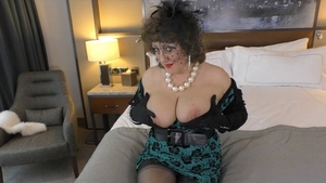 Fingering escorted by shaved MILF