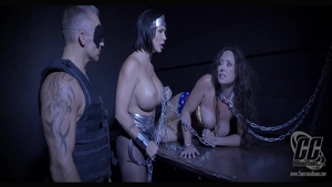 Chained escorted by huge tits stepmom Shay Fox