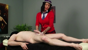 Pornstar Chantelle Fox CFNM massage in the school