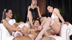 Femdom XXX along with hot raw Blanche Bradburry