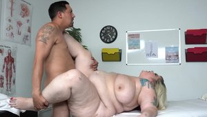 Huge latino BBW massage on the couch