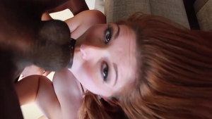 Rough blowjob in company with Rose Red