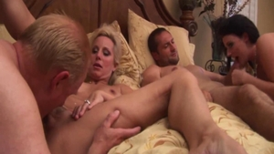 Mature Sophie Dee foursome