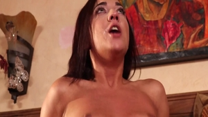 Sucking cock in shower next to young babe Amara Romani