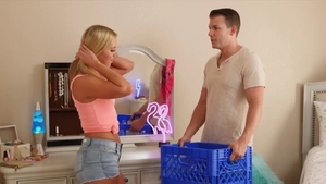 Teen chick Candice Dare in shorts 69