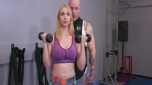 Sarah Vandella pussy fuck at the gym