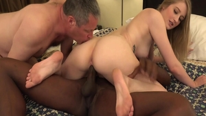 Hard nailining together with blonde haired