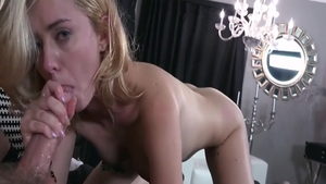 Super sexy & young Haley Reed sucking cock