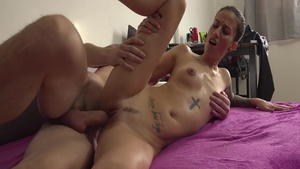 Girl Ali Bordeaux sucking dick