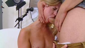Young & small boobs Violette Pure cumshot