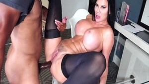 Jasmine Jae having fun with big black cock guy