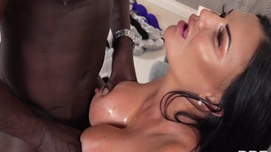 Jasmine Jae hard interracial sex scene