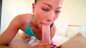 Small tits Kalina Ryu brunette interracial fuck video