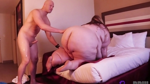 Booty and inked BBW Aira Bella oil doggystyle