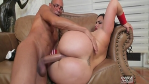 Hard nailed rough escorted by chubby latina babe