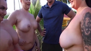 Threesome together with busty Sean Lawless and BBW Sean Law