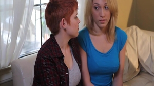 Hottest Lily Cade and glamour Lily Labeau ass pounded