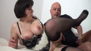 Classy french whore finds pleasure in hard slamming