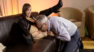 Young brunette Tina Hot need nailed rough wearing boots