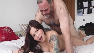 Loud sex in company with sexy whore