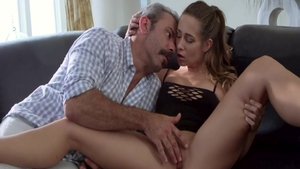 Pussy eating porno accompanied by skinny rough Cassidy Klein
