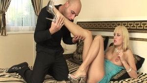 Nailed rough together with sexy european babe Blue Angel