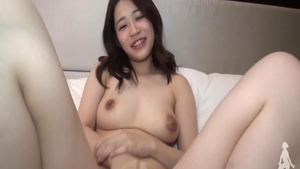 Young asian babe dick sucking