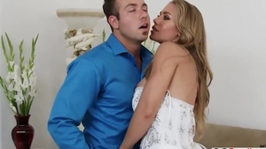 Real fucking alongside large tits blonde haired