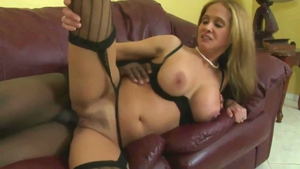 Hard nailining in company with huge tits stepmom