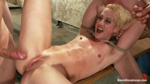 Blonde haired Dylan Ryan goes for group sex in HD