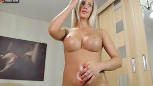 Sexy german female fingering at the casting in HD